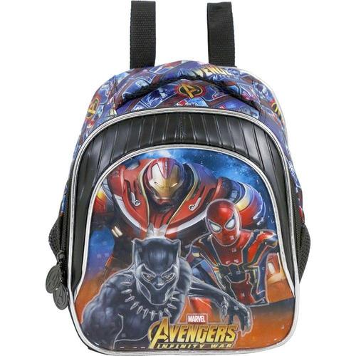 lancheira  xeryus avengers armored preta/azul xeryus - 7494