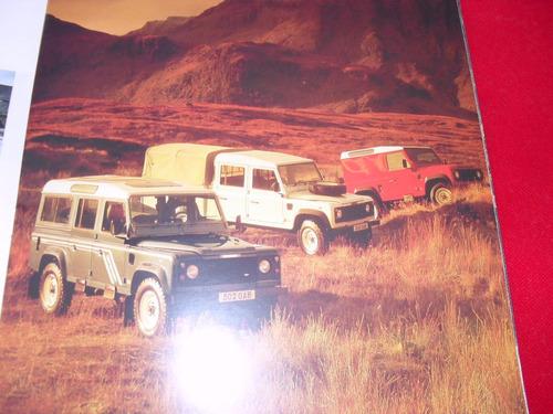 land rover defender catalogo folder original 1995