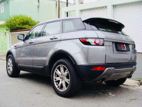 land rover evoque 2.0 pure 2013 cinza interno bege