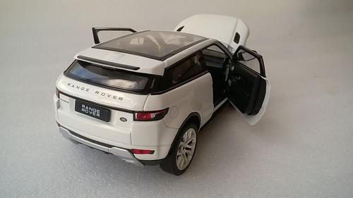 land rover evoque escala 1:24 metalica