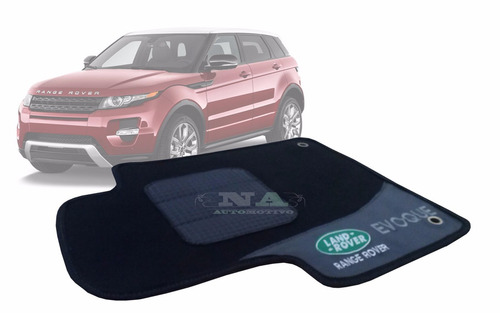 land rover evoque - tapete automotivo carpete preto
