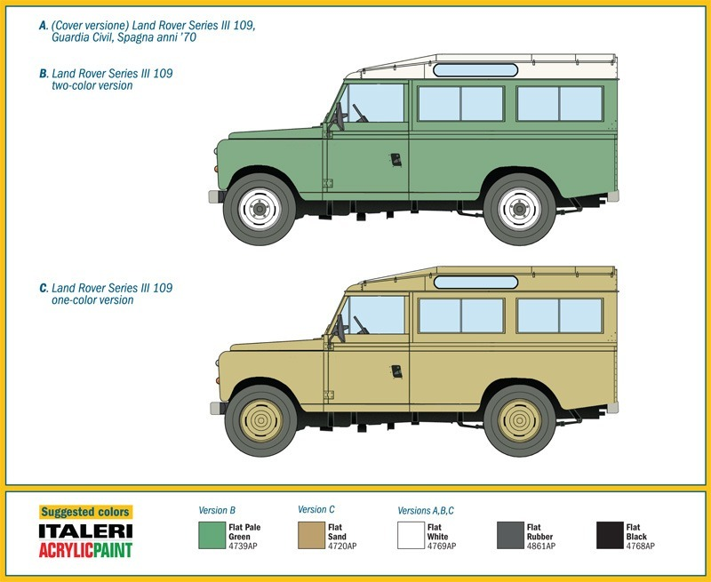 Land Rover Serie 3 109 By Italeri # 6542 1/35 - $ 549.00 en Mercado ...