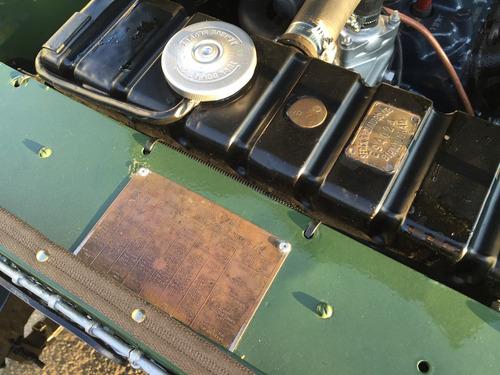 land rover series - placa preta