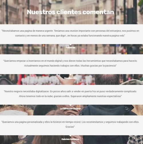 landing paginas web autoadministrable diseño web