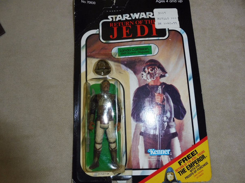 lando as skiff guard - the return of the jedi - vintage - sw