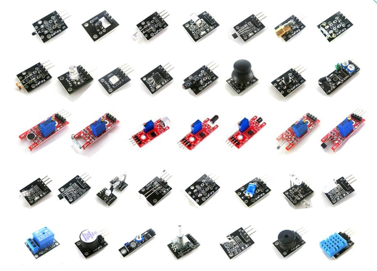 Landzo 37 En 1 Kits De Módulos De Sensores Para Arduino U