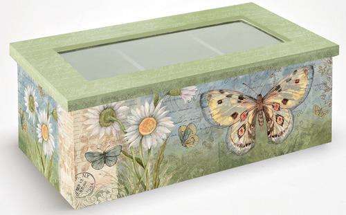 lang 2159000 caja de té con margarita mariposa por susan ...