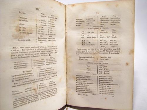 langue italienne, metodo frances italiano, 1860.