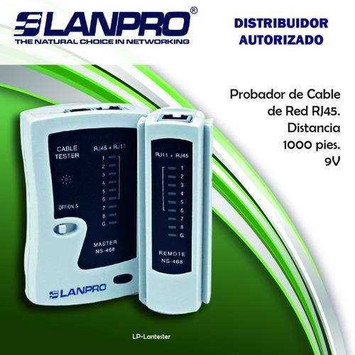 lanpro tester probador de cable de red rj45