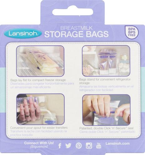 lansinoh - bolsas almacenar leche materna (200) + delivery