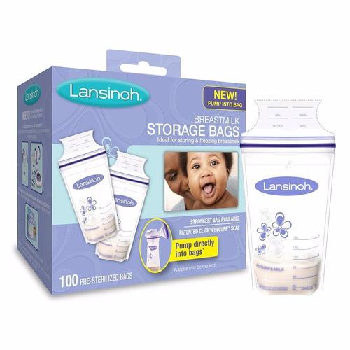 lansinoh bolsas para almacenar leche materna 100 piezas