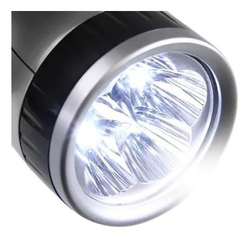 lanterna 5 led recarregável dp-1906 led light 2 modos de luz
