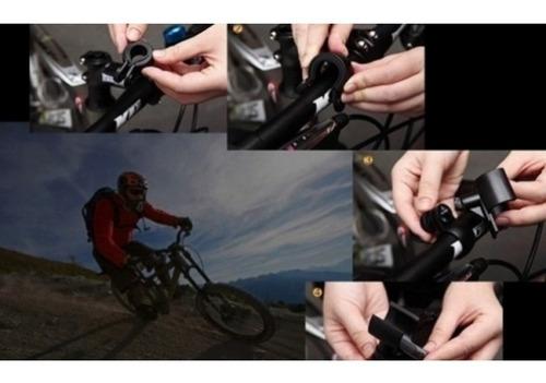 lanterna bike bicicleta com caixa de som bluetooth e suporte