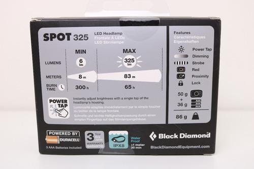 lanterna cabeça headlamp black diamond spot 325 lumens nova