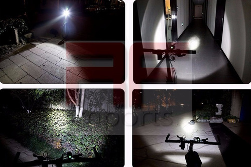 lanterna cabeça led t6 tatica bike  k8 11000w + 6 baterias