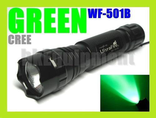 lanterna caça ultrafire 501a led cree verde/green