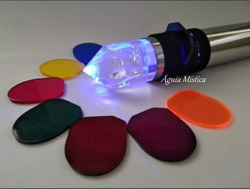 lanterna cromoterapia em cobre com cristal vogel
