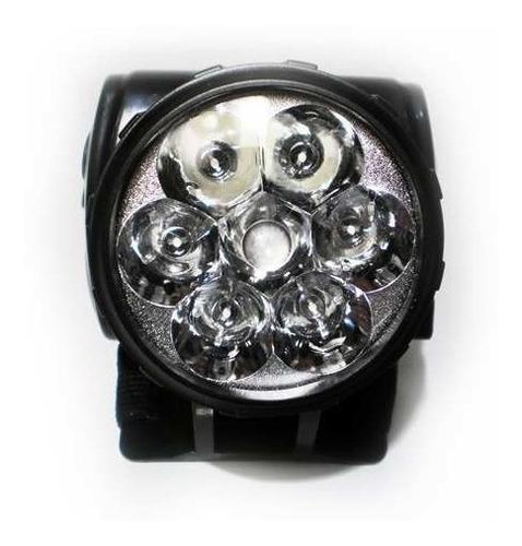 lanterna de cabeça profissinal 7 super led + elástico cabeça