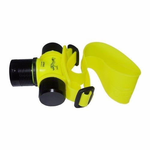 lanterna de cabeça recarregável p/ mergulho led prova d´água