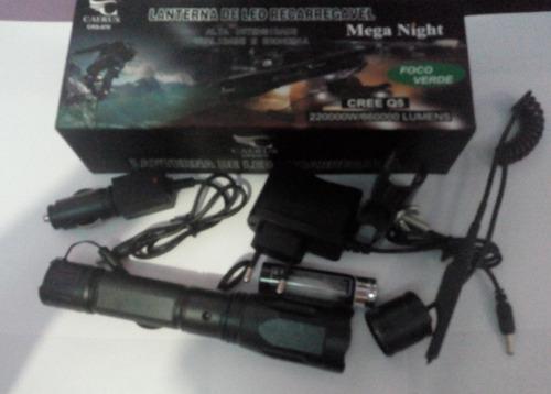 lanterna de led caerus 220000w/660000 lúmens foco verde