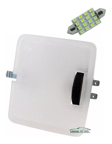 lanterna de teto gol quadrado c/ lâmpada led