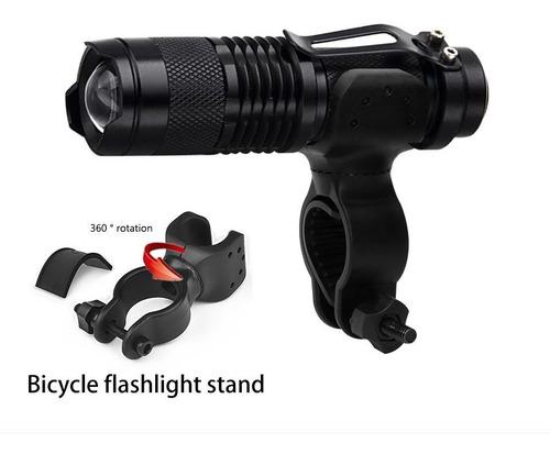 lanterna farol bike led cree xml recarregável com suporte