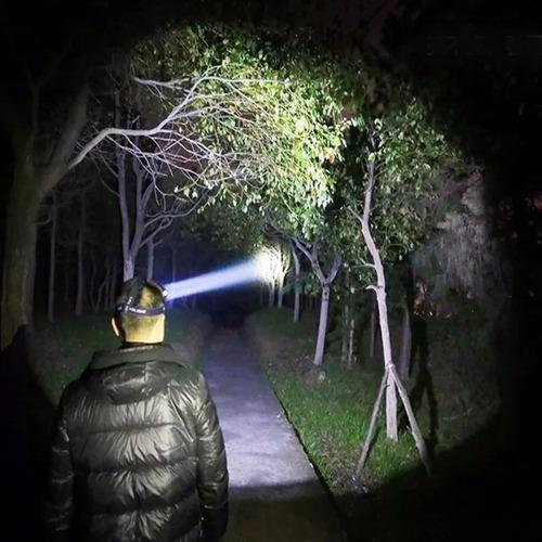 lanterna farol de cabeça led t6 e 2 leds r2 triplo led + bat