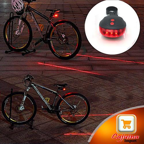 lanterna farol traseira bike led ciclovia laser faixa