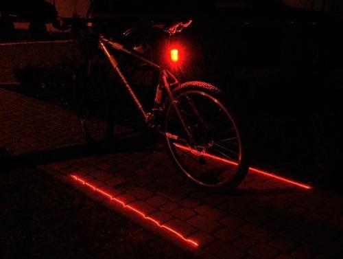lanterna farol traseira bike led ciclovia laser faixa laser