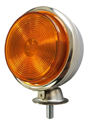 lanterna foguinho cromada bojuda maria amarela