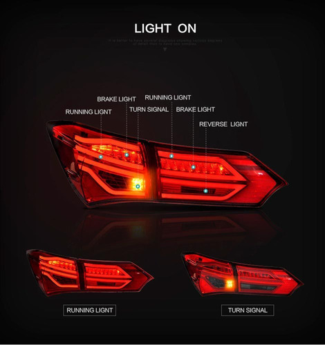 lanterna full led toyota corolla 2015 2016 2017 a 2017 red