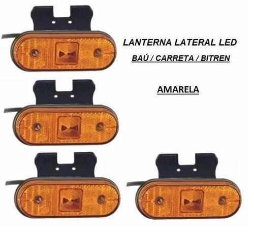 lanterna lateral led caminhão carreta reboque (unid) retangu