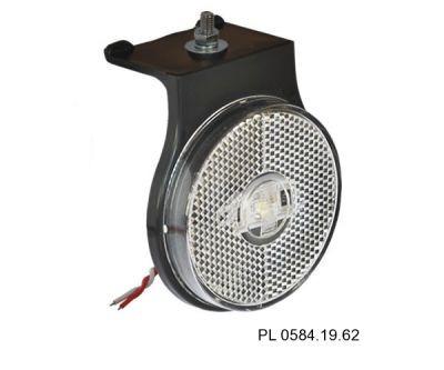lanterna lateral led c/haste e cabos acrilico cr