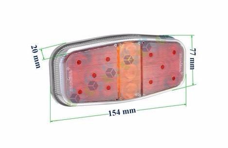 lanterna led carretinha carreta reboque freio posição seta