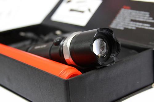 lanterna led cree police kit carregador + bateria + bastão