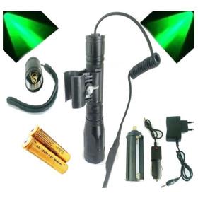 Lanterna Led Luz Verde 2 Baterias 8800mah / Super / Potente
