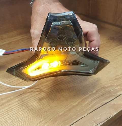 lanterna led pisca integrado kawasaki z1000 / zx10 15/17