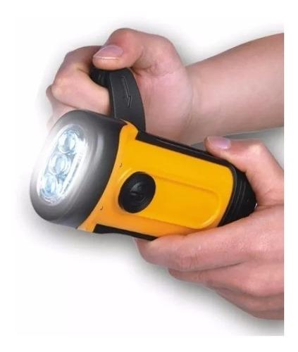 lanterna led recarregável dínamo dyno nautika - prova d´água
