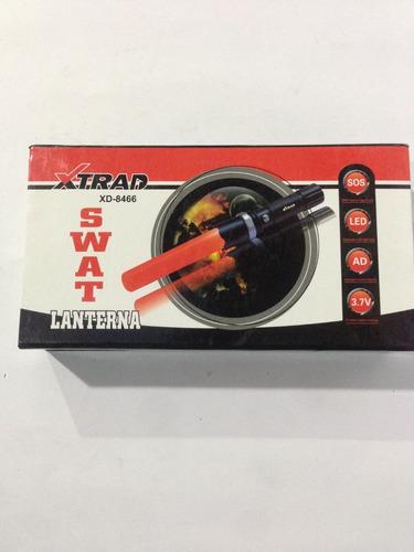 lanterna led - recarregável - swat - s8000w - c/ sinalizador