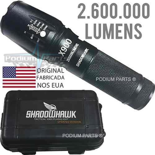 lanterna led x900 tatica militar shadowhawk original +brinde