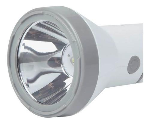 lanterna luminária 140 lumens recarregável branca led bivolt - mor