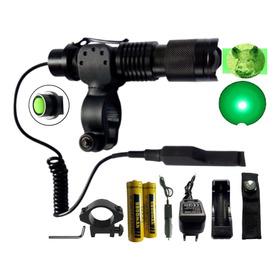 Lanterna Luz Verde Led Caça 1576 Acionador + Zoom Caçar