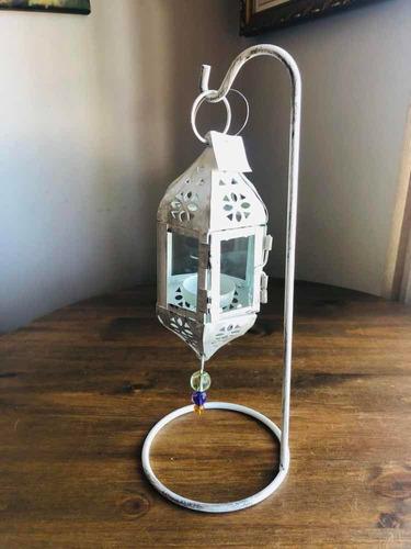lanterna marroquina de ferro 33cm