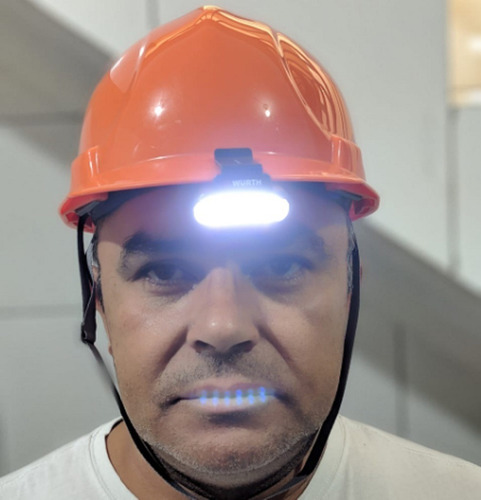 lanterna p/ boné c/ 06 leds  alto brilho mãos livres