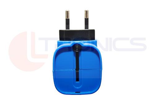lanterna recarregável 1 led 110/220v 20cm branco c/ azul