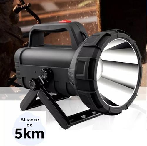 lanterna recarregável farolete holofote