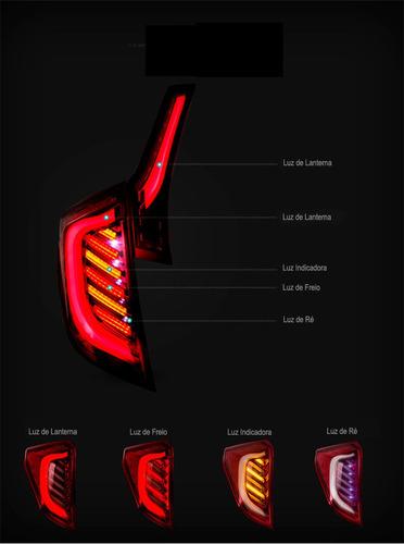 lanterna retrofit honda fit 2015 2016 2017 2018 full led