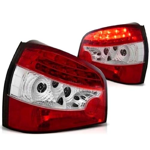 lanterna retrofit led audi a3 1996 a 2006 cristal red