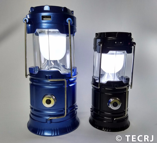 lanterna solar recarregável modelo grande lampião led solar