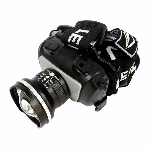 lanterna tática de cabeça police 200w 560 lumens led cree q5